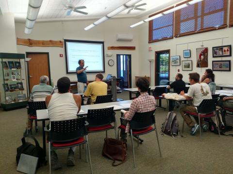 Jonathan instructing a class
